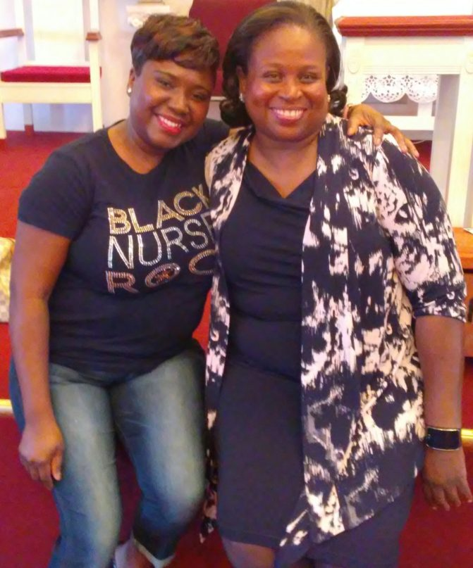 "SHARING EXCELLENCE WITH BLACK NURSES ROCK Pat after an interactive seminar on ""The Power of Intentional Goal Setting"""